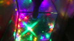 Light cube christmas lights Stock Footage
