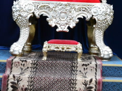Antiquarian chair. Related clips are in my portfolio in 1920x1080. Stock Footage