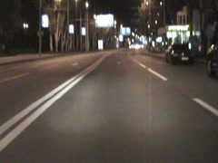 Night road - stock footage