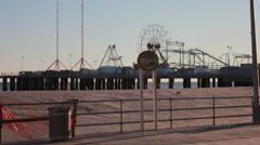 Boardwalk in Atlantic City - stock footage