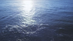 Sun reflected in the ocean - stock footage