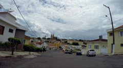 Street View of Guaxupe in Minas Gerais, Brazil Stock Footage