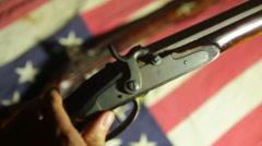 2nd amendment concept 1776 revolutionary war gun powder Stock Footage