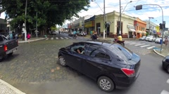 Street View of Guaxupe, Minas Gerais, Brazil Stock Footage
