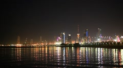 Skyline of Kuwait City Stock Footage