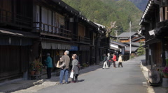 Historically Preserved Street in Tsumagojuku, Japan Stock Footage
