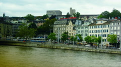 Mage of Zurich, capital of Switzerland,  time lapse Stock Footage