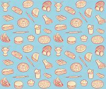 Fastfood pattern Stock Illustration