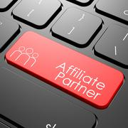 affiliate partner keyboard - stock illustration