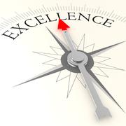 Excellence compass Stock Illustration