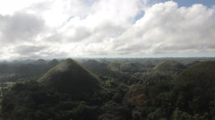 Chocolate Hills, Bohol, Philippines - stock footage