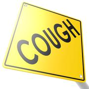 road sign with cough - stock illustration