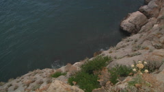 Mid Shot of sea and cliff in Crimea, Ukraine. Stock Footage