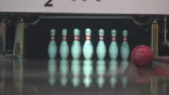 Bowling, slip. Bloomer Stock Footage