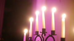 Stock Video Footage of chanukah Hanukkah candles blow out candles