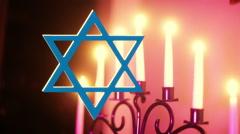chanukah Hanukkah judaism symbol - stock footage