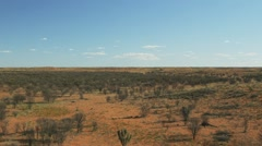 Australian outback low altitude aerial shot Stock Footage
