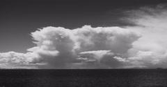 4k huge clouds mass on the lake namtso,Lingling shimmering tibet mansarovar. Stock Footage