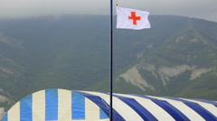 Medical service in mountain Stock Footage