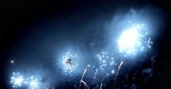 Fireworks in Big Eeuropean city Riga, Independence day Stock Footage