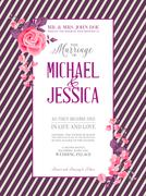 Bridal Shower invitation card. - stock illustration