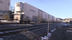 Union Pacific Train leaving Truckee Stock Footage