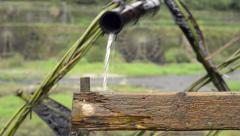 Chinese Agriculture: Water Wheel Irrigation Stock Footage