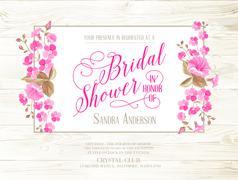 Bridal shower invitation. - stock illustration