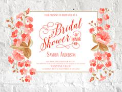 Bridal shower invitation. - stock illustration