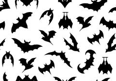Seamless bats background Piirros