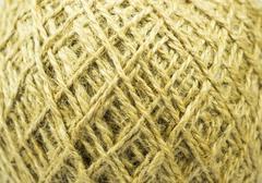 Hemp thread pattern - stock photo