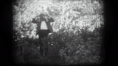 Childhood, amateur film strip 1960s 5 Stock Footage
