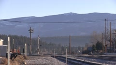 Quiet Mountain Rail Road Crossing Stock Footage