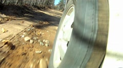 Truck on dirtroad Stock Footage