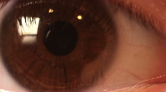 Eye of a young girl, close-up - stock footage