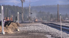 People In a Hurry to Beat the Train Stock Footage
