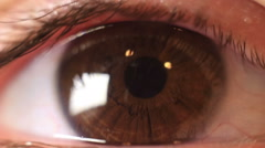 close up of human eye - stock footage