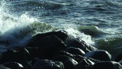 Sea Waves at Storm Stock Footage