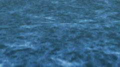 Flying Over the Ocean Camera Tilt Up Open Waters Stock Footage