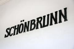 the written schonbrunn in a subway station - stock photo