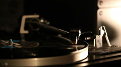Turntable playing an vinyl disk Stock Footage