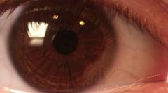 brown eye macro  - stock footage