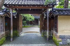 A street and courtyard in the old samurai quarter in kanazawa, japan Kuvituskuvat