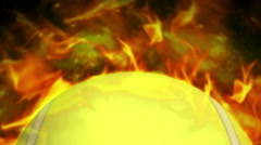 Fiery Tennis Ball Background Stock Footage