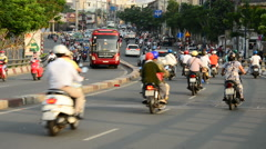 Time Lapse of Traffic in Busy District of Ho Chi Minh City Vietnam Stock Footage