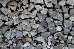 Pile of firewood for background Stock Photos