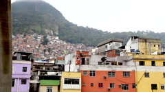 Stock Video Footage of Favela da Rocinha, a Brazilian Slum