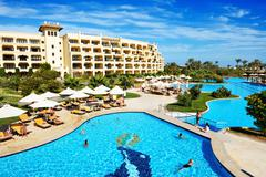 Stock Photo of hurghada, egypt -  december 5: the tourists are on vacation at luxury hotel o