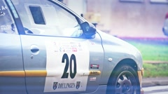 Rally Racing - Departure 01 Stock Footage