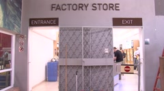 Ahava cosmetic factory store Stock Footage